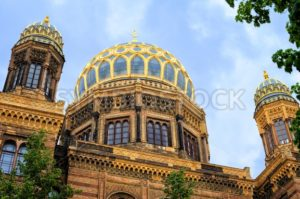 Golden Domes of the New Synagogue, Berlin, Germany - GlobePhotos - royalty free stock images