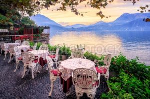 Lake Como and Alps Mountains on sunset, Italy - GlobePhotos - royalty free stock images