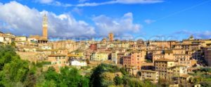 Panoramic view of Siena Old Town, Tuscany, Italy - GlobePhotos - royalty free stock images