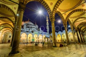 The courtyard of Sultan Ahmet Mosque, Istanbul, Turkey - GlobePhotos - royalty free stock images
