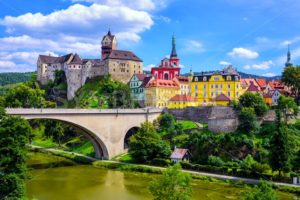 Town and Castle Loket near Karlovy Vary, Czech Republic - GlobePhotos - royalty free stock images