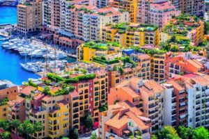Colorful apartment buildings in the city center of Monaco - GlobePhotos - royalty free stock images