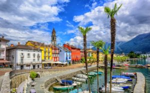Ascona old town on Lago Maggiore, Switzerland - GlobePhotos - royalty free stock images
