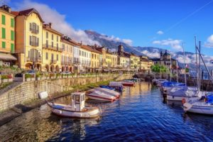 Cannobio old town, Lago Maggiore, Italy - GlobePhotos - royalty free stock images