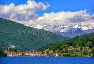 Mergozzo town, Lago Maggiore and Alps, Italy - GlobePhotos - royalty free stock images