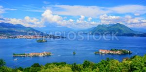 Panoramic view of Lago Maggiore lake, Italy - GlobePhotos - royalty free stock images