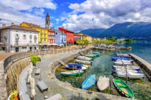 Ascona old town, Lago Maggiore, Switzerland - GlobePhotos - royalty free stock images