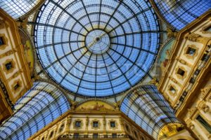 Glass domes of the Galleria Vittorio Emanuele II, Milan, Italy - GlobePhotos - royalty free stock images