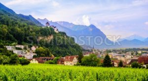 Vaduz town, the capital of Liechtenstein, Europe - GlobePhotos - royalty free stock images