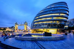 City Hall and Tower Bridge, London, England, UK - GlobePhotos - royalty free stock images