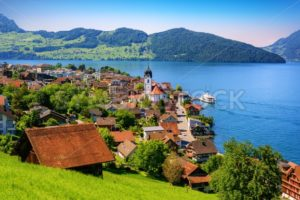 Lake Lucerne in the Alps mountains, Switzerland - GlobePhotos - royalty free stock images
