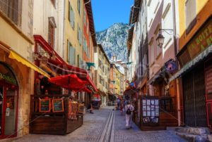 Main pedestrian street of Briancon town, Provence, France - GlobePhotos - royalty free stock images