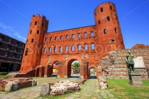 The Palatine Towers ancient roman gate, Turin, Italy - GlobePhotos - royalty free stock images