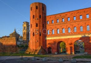 The Palatine Towers and the Cathedral of Turin, Turin, Italy - GlobePhotos - royalty free stock images