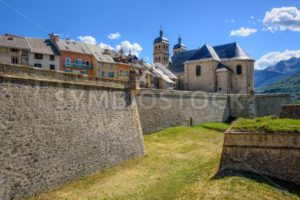 The Walls and the Old Town of Briancon, France - GlobePhotos - royalty free stock images
