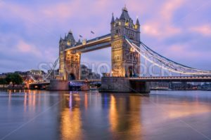 Tower Bridge in London, UK, in sunrise morning light - GlobePhotos - royalty free stock images