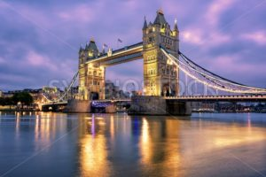 Tower Bridge over Thames river in London, UK - GlobePhotos - royalty free stock images