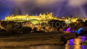 Carcassonne medieval Old Town, Languedoc, France - GlobePhotos - royalty free stock images