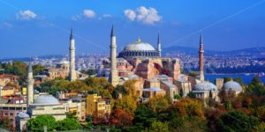 Hagia Sophia basilica in Istanbul city, Turkey - GlobePhotos - royalty free stock images