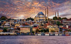 Istanbul city on dramatic sunset, Turkey - GlobePhotos - royalty free stock images
