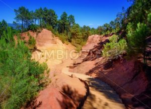 The Red Cliffs (Les Ocres) of Roussillon, Provence, France - GlobePhotos - royalty free stock images