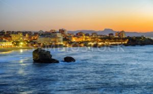 Biarritz city, Bay of Biscay, Basque Country, France - GlobePhotos - royalty free stock images