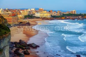 Biarritz city and its famous sand beaches, France - GlobePhotos - royalty free stock images