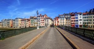 Colorful houses in Bayonne, Basque Country, France - GlobePhotos - royalty free stock images