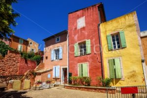 Old Town of Roussillon, Provence, France - GlobePhotos - royalty free stock images