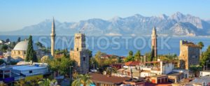Panoramic view of Antalya Old Town, Turkey - GlobePhotos - royalty free stock images