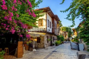 Pedestrian street in Antalya Old Town, Turkey - GlobePhotos - royalty free stock images