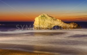 The Pierced Rock, Miramar Beach, Biarritz, France - GlobePhotos - royalty free stock images
