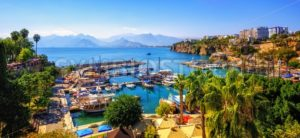 Panorama of the Antalya Old Town port, Turkey - GlobePhotos - royalty free stock images