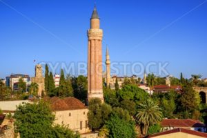 View over the Old Town of Antalya, Kaleici, Turkey - GlobePhotos - royalty free stock images