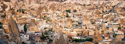 Cappadocian landscape by Goreme, Turkey Stock Photo