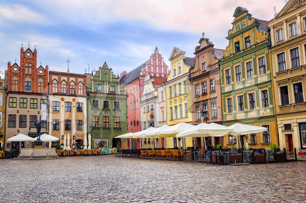 Stary Rynek, Old Marketplace Square in Poznan, Poland Stock Photo