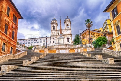 Spanish Steps, Rome, Italy Stock Photo