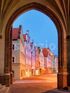 Medieval old town Landshut by Munich, Germany Stock Photo