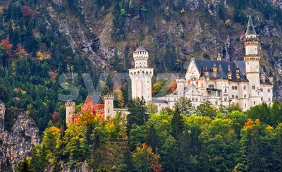Romantic Castle Neuschwanstein, Germany Stock Photo