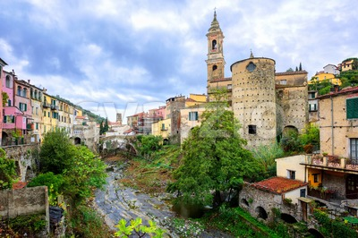 Dolcedo, little italian town in the Maritime Alps mountain in Liguria, Italy Stock Photo