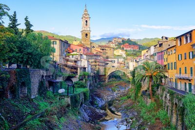 Dolcedo, small italian town in the Maritime Alps, Liguria, Italy Stock Photo