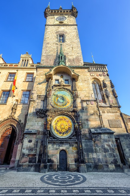 The Old Town Hall Tower with the Horologe, Prague, Czech Republic Stock Photo