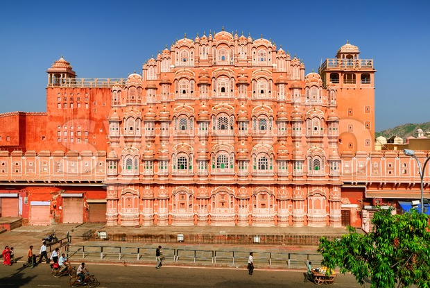 Palace of Winds, Hawa Mahal, Jaipur, India Stock Photo