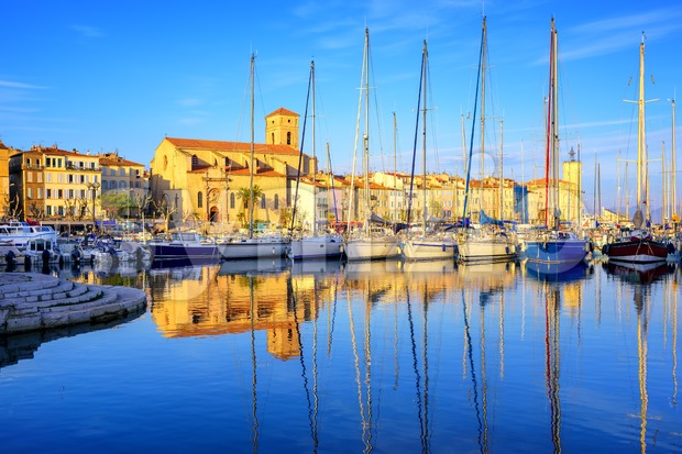 Yachts in old town port of La Ciotat, Marseilles, France Stock Photo