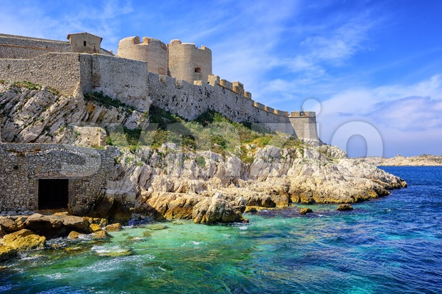 Chateau d'If castle on an island in Marseilles, France Stock Photo