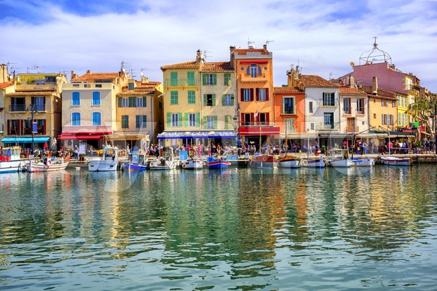 Port of Cassis old town, Provence, France Stock Photo