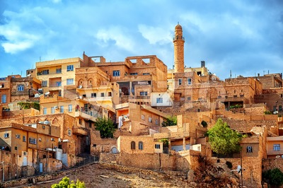 Traditional architecture in the old town of Mardin, Turkey Stock Photo