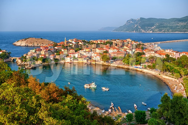 Amasra town on the Black sea coast, Turkey Stock Photo