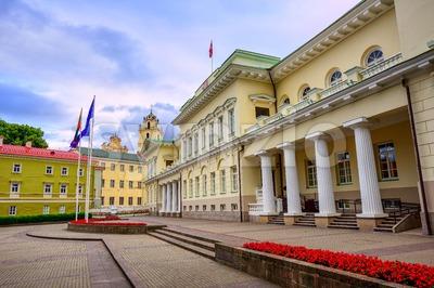 The Presidential Palace, Vilnius Old Town, Lithuania Stock Photo