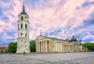 Cathedral Basilica in the old town of Vilnius, Lithuania Stock Photo